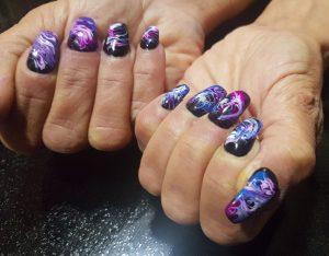 Galaxy nail design - Malta nail technician, Naxxar